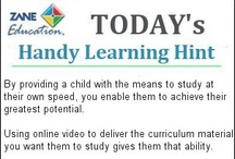 Handy Learning Hints / Handy learning hints to help ensure Teachers, Parents, Homeschoolers and Students, receive the full benefits from using the unique visual learning resources provided by Zane Education.