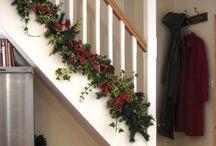 decorazioni scale natale