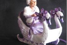 Winter dolls by NIADA artists / Art dolls showing wintertime
