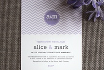 Graphic wedding invitations