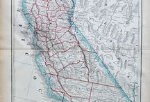 California Maps and Prints / Antique Maps of California and the surrounding area
