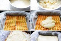 framboosgebakjes van wafels