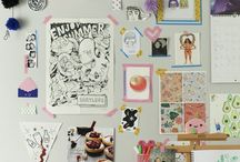 Home Office/Studio / Decorations and useful items I'd love to have in my future office/studio.