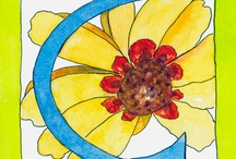 Alphabets Watercolors by Lynne Furrer / Original watercolors and reproductions by Lynne Furrer www.watercolorbloom.com / by Lynne Furrer