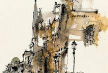 Urban sketching inspiration / sketching
