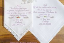 Mother & Father of the Birde Embroidered Wedding Handkerchiefs