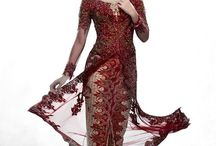 Fashion - Kebaya / A Kebaya is a traditional blouse-dress combination worn by women in Indonesia, Malaysia, Brunei, Burma, Singapore, southern Thailand.