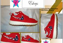 American Flag Print Nike Roshe / Get these at : www.eshays.com