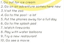 Sunmer bucket list