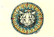 Mandala gato / Arte
