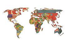 Quadro do mapa mundi - Brasil