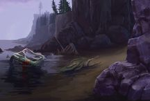 Concept art from Enigmatis / Concept art from Enigmatis: The Mists of Ravenwood