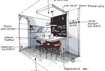 Exhibit Sketch / Het maken van schetsen van stands
