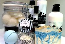 Soaps, lotions and potions / Yours, mine or ours, doesn't matter here.  It just has to be pretty!