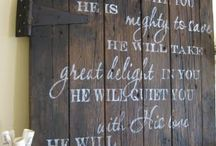 Bible verse home art / God's Word for our home
