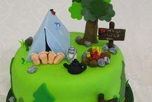 Camp Birthday Cakes