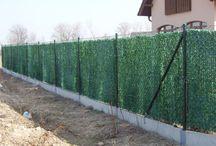 Zastínění plotů / Plotové zástěny, stínící tkaniny, umělé živé ploty, rákosy a rákosové rohože na plotech a balkonech