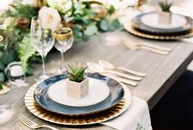 Reception Styling - Table & Place Settings