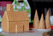 Gingerbread House And Cookies / Party ideas would be fun to have a gingerbread house party  / by Pamela Scott