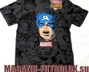 Футболки Капитан Америка (Captain America) / Футболки Captain America. Настоящее имя героя — Стивен Роджерс — супергерой из комиксов компании Marvel Comics. Он был создан писателем Джо Саймоном и художником Джеком Кирби и впервые появился в комиксе Captain America Comics №1 в марте 1941 года.