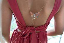 Farfalle body chain