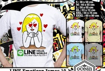 LINE Emoticon James  T-Shirt / T-shirt from my kiosk online about LINE Emoticon James  if you interested about my t-shirt you can contact me at  Yahoo_ID: ourkios or Blackberry Messenger : 27BD1F27