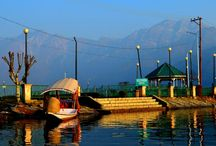 Srinagar / Heaven on earth !!! lonely snow clad mountains and beautiful Dal Lake