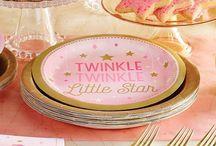 *1st Birthday Girl Twinkle Star Pink*