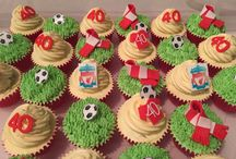 Football Cupcakes and Cakes