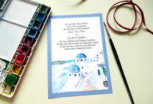Destination Illustrated Wedding Invitations