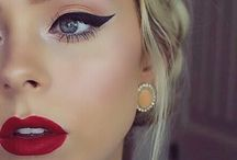 Red lipstick makeup
