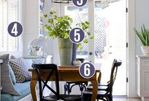 Dining Room / Ideas for the dining room, booth-style seating, etc.