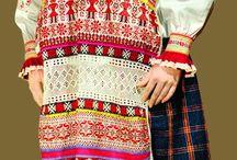 Russian folk costumes