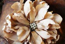 Vintage flower / Fabric