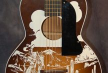 Vintage Used Guitars / 1942 Kay Oro Lefty Parlor Guitar .