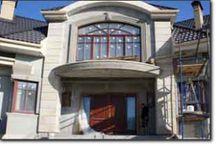 ФАСАДЫ ДОМОВ, отделанные декоративным натуральным камнем песчаником / Об использовании натурального камня песчаника в отделке фасада дома, его интерьера и прилегающей территории