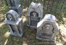 stone looking tombstones
