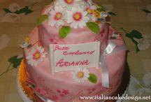 cake design torta con margherite