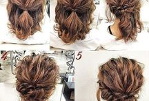 Shirt hair updo