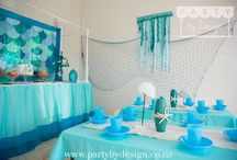 Mermaid Party Package / Under the sea is a magical world of mermaids, seahorses and shells. Want to celebrate in style and throw a memorable kids birthday party that will allow you to transform your house or party venue into an underwater adventure for your little mermaid?.  Let Party by Design's Auckland team help with our themed children's party packages and dessert tables.  Visit www.partybydesign.co.nz