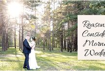 Reasons to Consider a Morning Wedding / There is nothing better than fresh, morning air and bird songs singing during your nuptials.  http://www.kimberleyandkev.com/reasons-to-consider-a-morning-wedding/