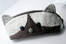Cats AND pouches  / Sewing pouches that look like cats