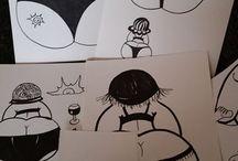 dikke dames tekene
