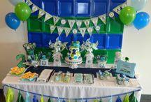 Kyce's 4th Birthday Party - Train & Bridge theme! All Aboard Kyce is Turning 4 / by Tonya Wilson