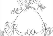 coloring pages 3 (Cinderella)