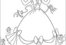 coloring pages 3 (Cinderella)