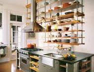 Suspended shelf / cupboard