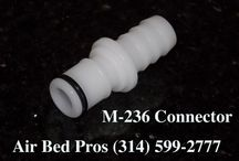 Air Bed Parts Connectors Compatible with Sleep Number® Bed Pumps / Male and Female Air Bed Parts Connectors Compatible with Sleep Number® Bed Pumps to stop air leaks and form the air tight seal. - We Do Not Sell Sleep Number® Bed Products!