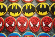 Cookie Inspiration  ~ Superhero / Sugar cookies decorated with a superhero theme.