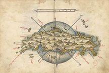 Cartographie ancienne / Quelques cartes d'inspiration ancienne.